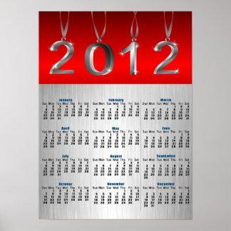 Affischtryck för 2012 kalender affischer