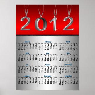 Affischtryck för 2012 kalender affisch