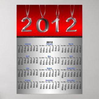 Affischtryck för 2012 kalender print