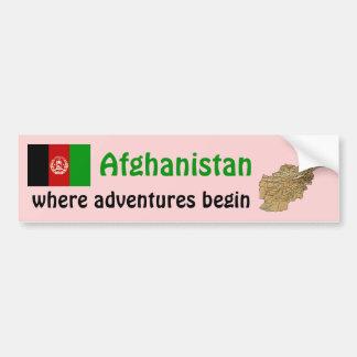 Afghanistan flagga + Kartabildekal Bildekal