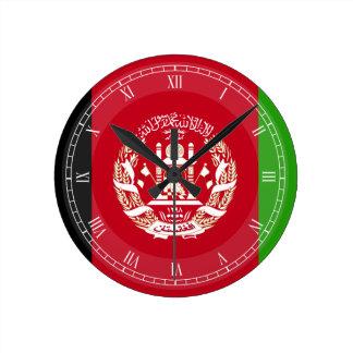 Afghanistan flagga rund klocka