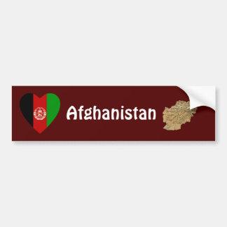 Afghanistan flaggahjärta + Kartabildekal Bildekal