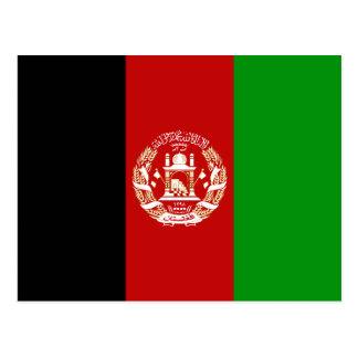 Afghanistan flaggavykort vykort