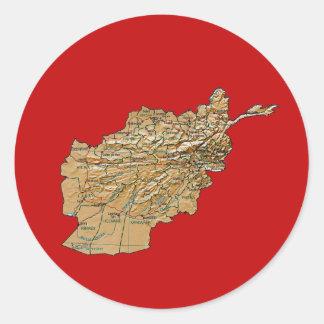 Afghanistan kartaklistermärke runt klistermärke