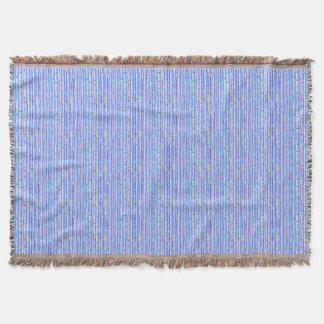 Afghansk design för abstrakt för blåttbjörkträd filt