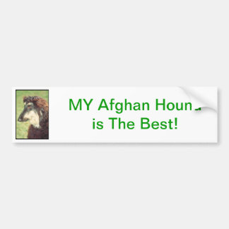 Afghansk hund bildekal