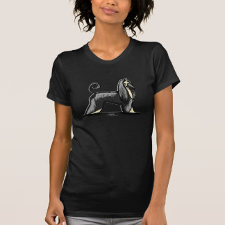 Afghansk hund för svart & för solbränna t shirt