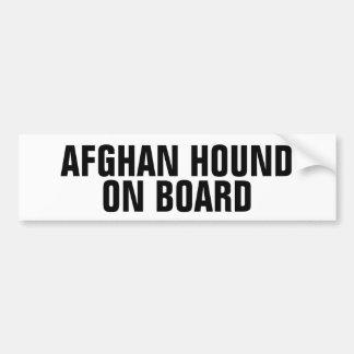 Afghansk hund ombord bildekal
