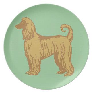 Afghansk hund tallrik