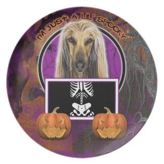 Afghanska Halloween - precis en spöklika Lil - Tallrik