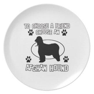 AFGHANSKA HUNDhund design Tallrik