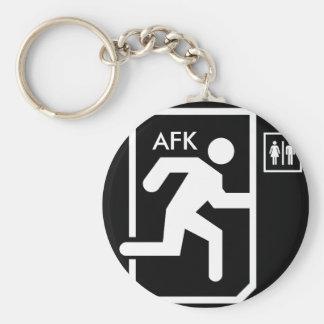 AFK Keychain Rund Nyckelring