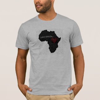 Africa_outline_bw kopierar tee shirt