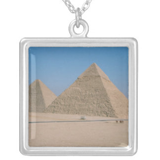 Afrika - egypten - Cairo - underbara pyramider av Silverpläterat Halsband
