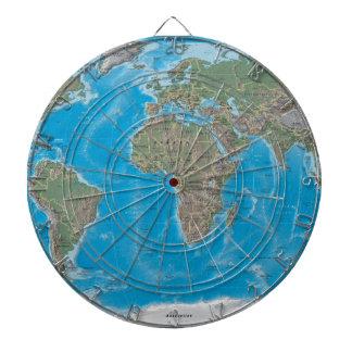 Afrika, Europa och världskartadartboarden Piltavla
