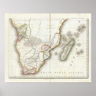 Afrika inristad karta poster