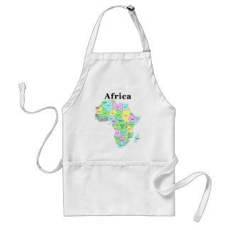 Afrika - politisk karta förkläde
