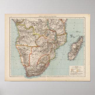 Afrika S av ekvatorn Poster
