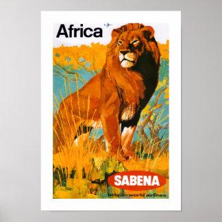 Afrika~ Sabena Poster