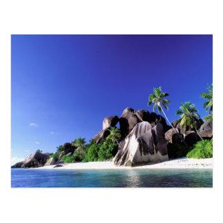 Afrika Seychellerna, LaDigue ö. Granit 3 Vykort