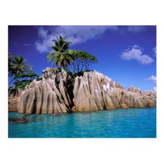 Afrika Seychellerna, LaDigue ö. Granit Vykort
