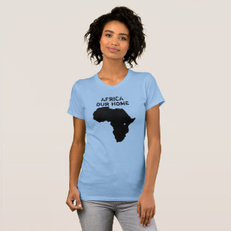 Afrika vår hem- kartaskjorta tee shirts
