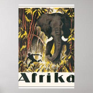 Afrika vintage resoraffisch poster