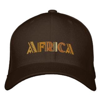 Afrikajord färgar baseballmössan broderad keps