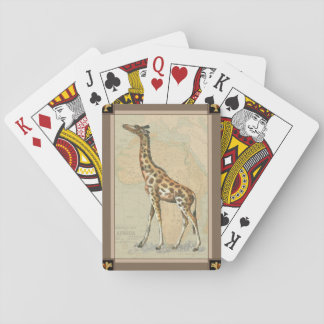 Afrikakarta och en giraff kortlek