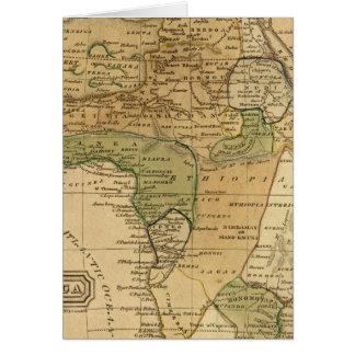 Afrikakarta vid Worcester Hälsningskort