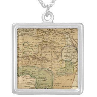 Afrikakarta vid Worcester Silverpläterat Halsband