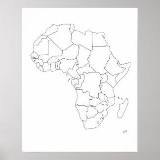 Afrikakartan skisserar affischen poster
