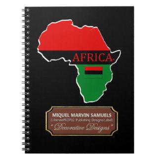 Afrikaland skisserar den moderna anteckningsboken anteckningsbok med spiral