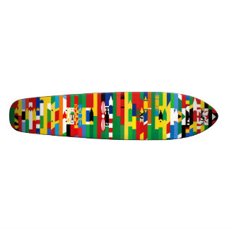 Afrikanen sjunker skateboarden skate deck