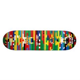 Afrikanen sjunker skateboarden skateboards