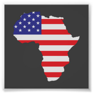 Afrikansk amerikanafrikan United States sjunker Fototryck