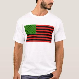 Afrikansk amerikanflagga - röd svart och grönt t shirt
