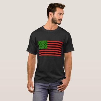 Afrikansk amerikanflagga - röd svart och grönt t-shirt