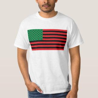 Afrikansk amerikanflagga - röd svart och grönt tee shirts