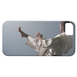 Afrikansk amerikanmanarbete ut idrottshallen iPhone 5 fodral