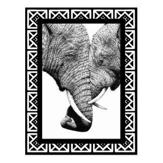 Afrikansk elefantvykort vykort