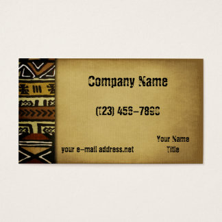 Afrikansk leratrasa för vintage visitkort