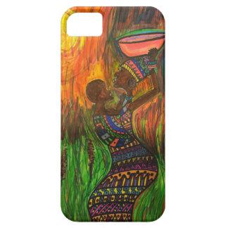 Afrikansk mamma med henne bebis iPhone 5 cover
