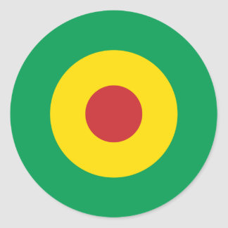 Afrikansk modrundaklistermärke runt klistermärke