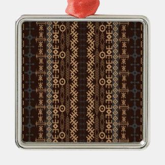 Afrikansk mönsterstil vol35 julgransprydnad metall
