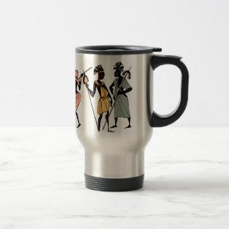 Afrikansk stam- infödd stil för travel mug rostfritt stål resemugg