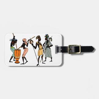 Afrikansk stam- infödd stilbagagemärkre bagagebricka