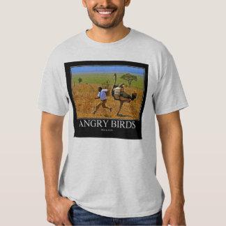 Afrikansk stil för ilskna fåglar t shirts