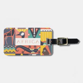 Afrikansk symbolisk konstCollage Bagagebricka