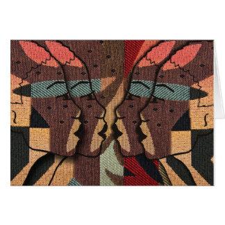 Afrikansk Tapestry Hälsningskort